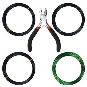 Kebinfen Tree Training Wires for Bonsai Tree, with Bonsai Wire Cutter