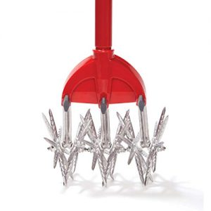Garden Weasel Cultivator - Break Up Soil, Detachable Tines