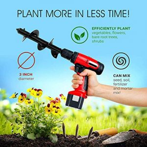 UPSTONE Durable Auger Drill Bit - Garden Auger Spiral Drill Bit