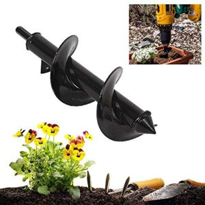 "Chuancheng Gardening Auger Drill Bit 3"" x 10"" for Planting Bedding Bulbs Seedlings"