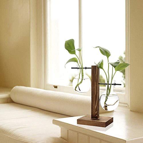 Takefuns Hydroponic Vase Vintage Desktop Plant Terrarium Planter Bulb