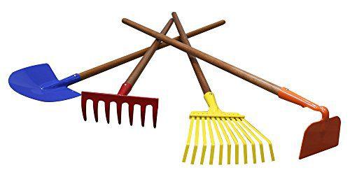 "Arcadius Garden Kids Garden Tools Set, 7/8"" x 30""- Rake, Spade"