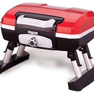 Cuisinart Petit Gourmet Portable Tabletop Gas Grill, Red