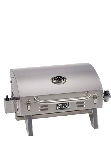 Masterbuilt Smoke Hollow Propane Tabletop Grill, Stainless Steel