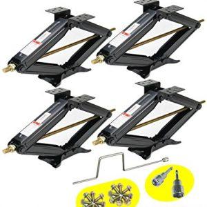 LIBRA Set of 4 5000lbs RV Trailer Stabilizer Leveling Scissor Jacks
