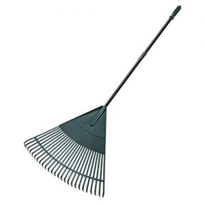 ORIENTOOLS Garden Leaf Rake, Adjustable Lightweight Steel Handle