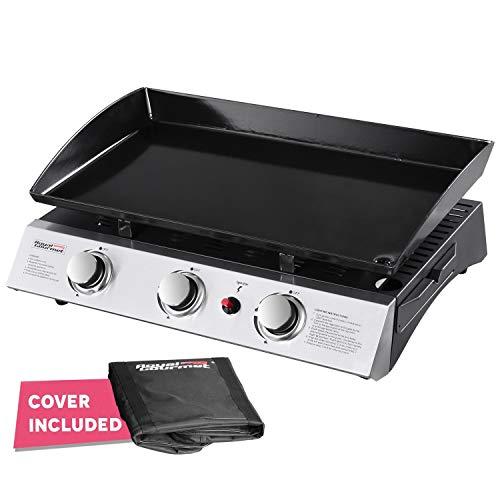 Royal Gourmet Portable 3-Burner Propane Gas Grill Griddle