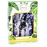 3 Piece Gardening Tool Set - Purple Floral Print Vegetable Flower Gardening Tool Kit