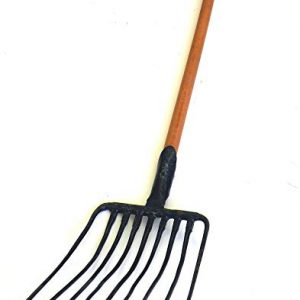 Ergonomic 9 Tines Forged Pitch Fork,Professional Welded Bedding Fork