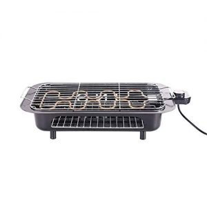 Double Layer Electric Indoor Grill & Searing Grill with Removable Nonstick Plates