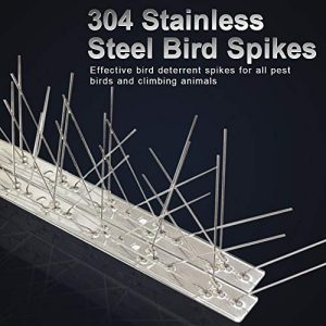 Bird Spikes for Pigeons Small Birds Cat,Anti Bird Spikes Stainless Steel