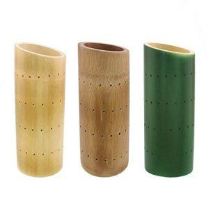 "BambooMN 9.84"" Bamboo Skewer Holder Food Display Stand Angle Cut Tube"