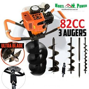 82cc Post Hole Digger Auger Petrol Drill Bit Fence Earth Borer