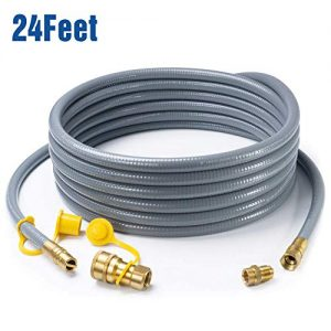 GASPRO 24 Feet 1/2 ID Natural Gas Hose, Propane Gas Grill Quick Connect