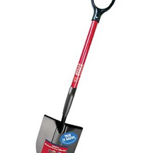 Bully Tools 12-Gauge Round Point Shovel with Fiberglass D-Grip Handle