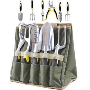 scuddles Garden Tools Set - 7 Piece Heavy Duty Gardening Tools