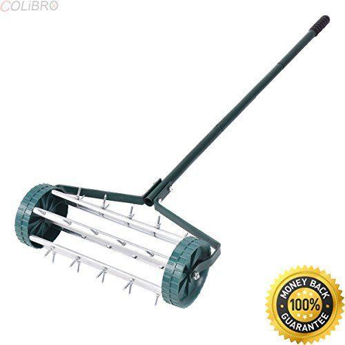 COLIBROX--Heavy Duty Rolling Garden Lawn Aerator Roller Home Grass