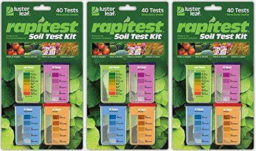 Luster Leaf Rapitest Soil Test Kit, 40 Count (3 Pack)