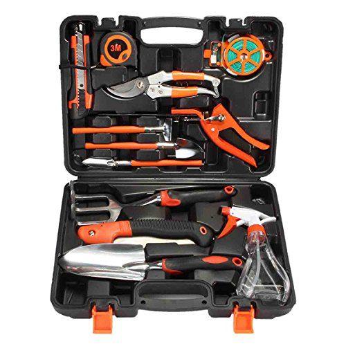 PATHONOR Garden Tool Set, 12 Piece Garden Heavy Duty Tools Set