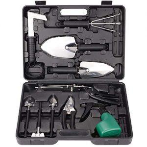 TOORGGOO Gardening Tools Set,12 Piece Stainless Steel Garden Tool Set