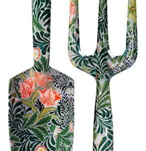 V&A Sturdy Aluminum Hand Fork and Trowel Garden Set