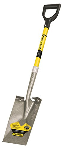 Truper Tru Pro Garden Spade, Fiberglass D-Handle, 29-Inch