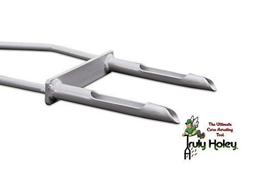 Two Prong Truly Holey Manual Lawn Aerator Tool Foot Bar 40 i... 5 Pounds