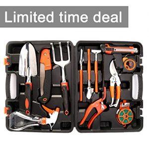Garden Tool Set OUTAD 12 Pieces Ergonomic Gardening Hand Tool Kits