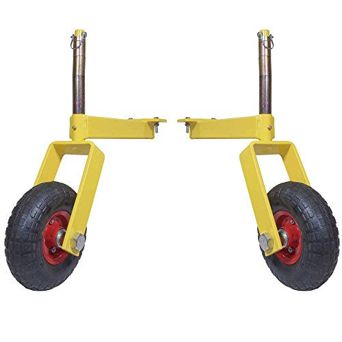 Pair of Titan Landscape Rake Wheel Attachments Adjustable Height
