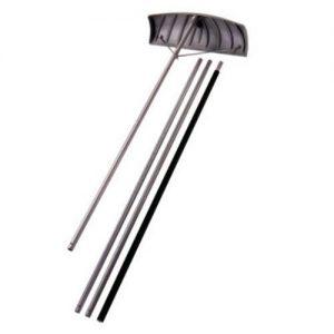 "Suncast 24"" Adjustable Roof Rake with 20' Resin Handle"