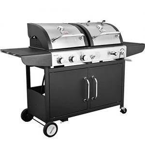 Royal Gourmet 3-Burner Cabinet Gas Charcoal Grill Combo