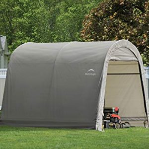 ShelterLogic 10' x 10' Shed-in-a-Box All Season Steel Metal Round Roof Outdoor