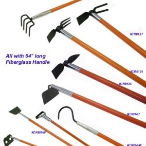"Weeding Hoe-mattock with 54"" Long Fiberglass Handle"