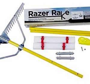 Jenlis Razer Rake - Collapsible All-Purpose Aluminum Lake and Landscape