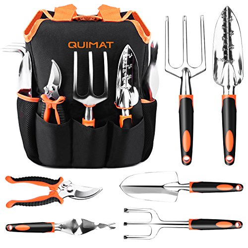 Quimat Tools Set 7Pcs Aluminum Alloy Hand Gardening Kit