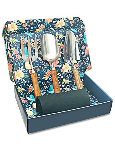 Sunphio Gardening Tools Set with Heavy Duty Garden Hand Trowel
