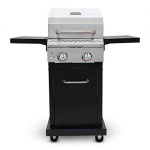 Megamaster Propane Gas Grill, Stainless Steel + Black