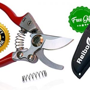 "8"" Professional Garden Bypass Pruning Shears with Free Holster"