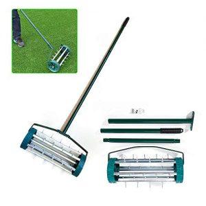 Rolling Lawn Aerator Roller Spike Tool Rolling Garden Scarifier Yard Grass
