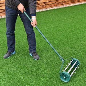 Moon Daughter Heavy Duty Easy Rolling Garden Lawn Aerator Roller