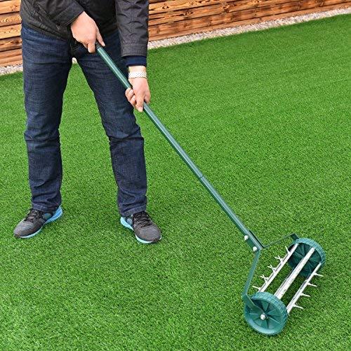 Moon Daughter Heavy Duty Easy Rolling Garden Lawn Aerator Roller