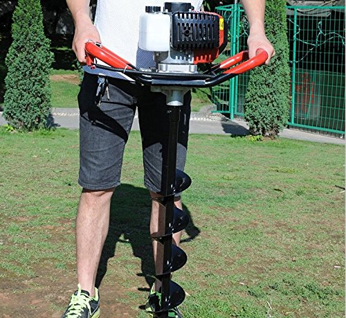 One Man Earth Auger, 52cc 2-Cycle 2.3 HP Petrol Powered Earth Auger