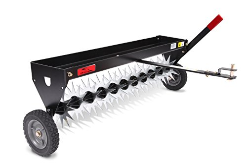Brinly Tow Behind Spike Aerator with Transport Wheels, 40-Inch