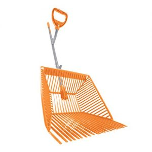 Ergieshovel 22 Tine, Scoop, 54 in Steel Shaft w/Auto Sifting Fork Basket Muck Rake