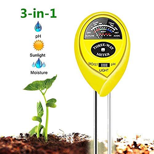 WINZOOM Soil Tester,Soil Moisture Meter,3-in-1 Soil Test Kit