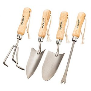 YAPASPT Gardening Tools - 4 Piece Heavy Duty Garden Hand Kit