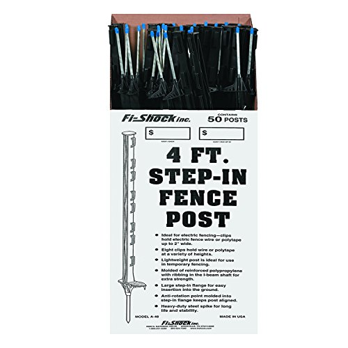 Fi-Shock A-48B 4 ft. Black Step-In Fence Post