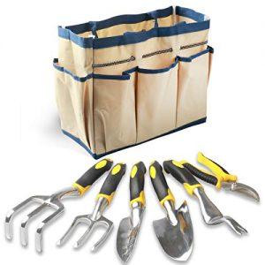 Enegitech Gardening Tools Set, 7 Piece Garden Hand Tools