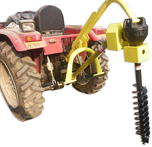 "Titan 30HP HD Steel Fence Posthole Digger w/12"" Auger 3 Point"