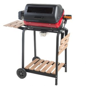 Americana Electric Cart Grill with two folding side tables